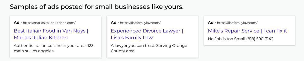 Ads posted for businesses like yours